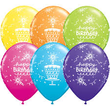 balloons birthday delivery colorful 5 pcs happy birthday balloons bunch add on product