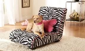 Dog Chaise Zebra Print Dog Bed Foter