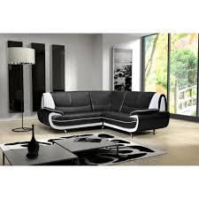 canape d angle margo coloris noir et blanc achat vente canapé