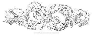 koi outline touch up by pennywise3368 on deviantart