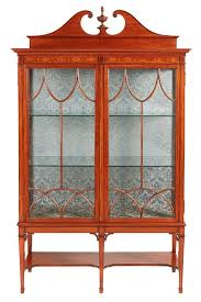 antique display cabinets with glass doors cabinet furniture satinwood united kingdom georgian the uk s