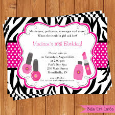 spa party kids birthday invitations kbi296diy printable digital