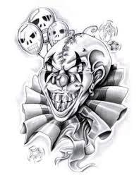 evil jack in the box tattoo designs evil clown tattoo designs 4