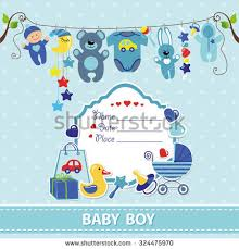 baby boy shower card invitation template stock vector 539738677