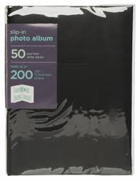 200 photo album whsmith black 7x5 photo album 50 white slip i whsmith