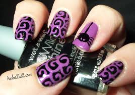 amber did it halloween spider nail design