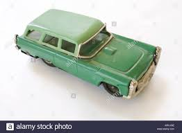 green station wagon late 1950s green station wagon tin toy stock photo royalty free