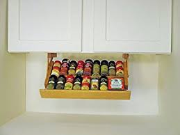 under cabinet spice rack amazon com under cabinet spice rack colonial maple kitchen dining