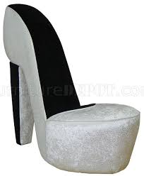 High Heel Shoe Chair Excitement Pearl Fabric Stylish Modern High Heel Shoe Chair