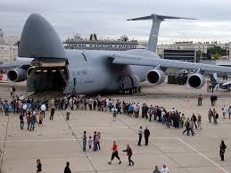 air force c 5 galaxy standing down after landing gear malfunction