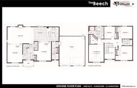 trillium floor plan 2 storey homes les habitations trillium homes inc