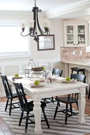 White Dining Table With Black Chairs Awesome Black And White Dining Room Chairs Contemporary
