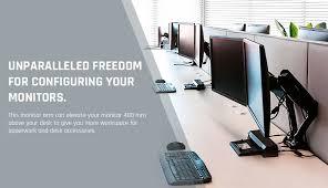 Desk For Desktop Computer by Amazon Com Loctek D5d Dual Monitor Mount Lcd Arm Full Motion