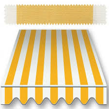 Striped Awning Recacril Classic Stripes Yellow White 47 Inch R 055 Awning And