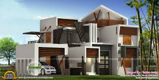 sq ft to sq m modern 214 square meter house plan kerala home design and floor