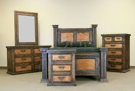 Von Furniture Finca Copper Rustic Bedroom Set - Cowhide bedroom furniture