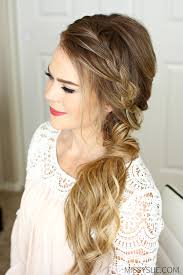 front view of side swept hairstyles braided side swept prom hairstyle missy sue