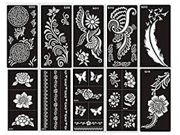 amazon com tattoo stencil template set of 10 sheet g henna and