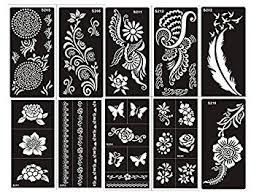 amazon com tattoo stencil template set of 10 sheet g henna and