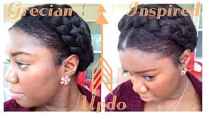 greek goddess crown braid tutorial protective style youtube
