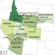 National Park Map Usa by Cosmos Tours National Parks U0026 Canyon Country With Little Bighorn 2017