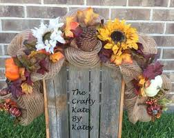 fall mailbox swag etsy