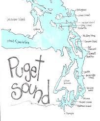 Sound Map Puget Sound Map Northwest Gift Washington Gift Washington