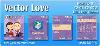 theme maker nokia 2690 vector love theme for nokia c1 01 c2 00 2690 themereflex