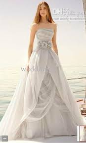 draped wedding dress vera wang white organza gown with draped bodice and tulle skirt