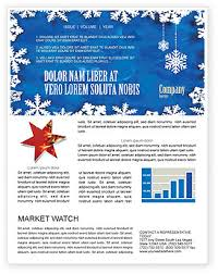 winter theme newsletter template for microsoft word u0026 adobe