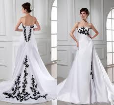 fashion 2017 wedding dresses strapless appliques black lace white