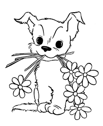 puppy coloring pages kids coloring