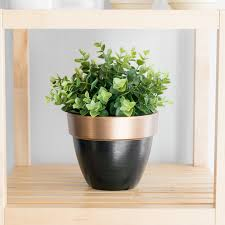 Challenge Plant Pot One Room Challenge Week 4 Greenery Painted Gold Accents