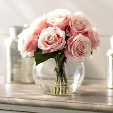 Vase With Roses Roses In Glass Vase U0026 Reviews Birch Lane
