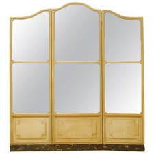 Mirror Room Divider by Three Panel Room Divider Or Screen Mirror And Mahogany Early 19th