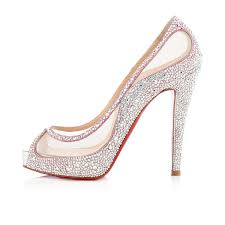 christian louboutin camillas 120mm peep toe pumps aurora boreale