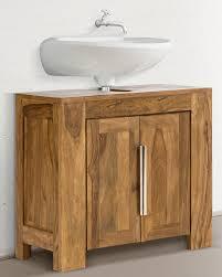 badezimmer waschbeckenunterschrank waschbecken unterschrank robustus bad massiv holz honigbraun