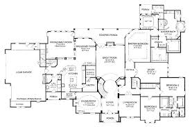 five bedroom floor plans 5 bedroom floor plans one story one story 6 bedroom house plans 5