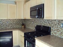 kitchen comely kitchen decoration using light brown glass mosaic
