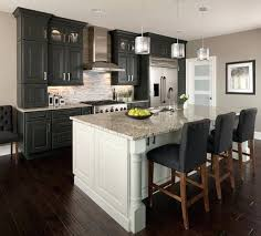 kitchens with different colored islands different color granite on kitchen island contrasting