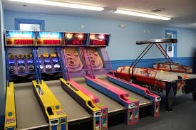 the game room inside the cape cod inflatable water park with games