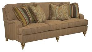 traditional sofa with english arms and turned legs by kincaid