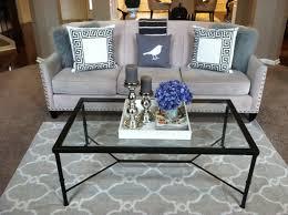 gotta love a little bling grey trellis rug in living room