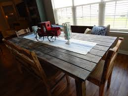 Old Farm Tables Farm Table We Built From Old Deck Boards Pallet Furniture