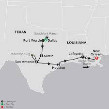 New Orleans State Map by Southern Usa Tours Cosmos Budget Travel