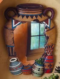 Southwestern Style Curtains Design Western Wall Decor Best 25 Southwestern Mirrors Ideas