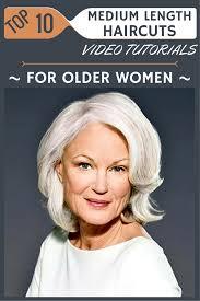 Top 10 Medium Length Haircuts Video Tutorials For Older Women