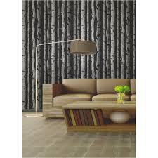 buy fine decor birch tree wallpaper black grey