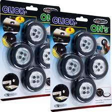 stick up led lights click on stick up led lights by super bright set of 8 overstock