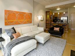 Condo Living Room Furniture Portland Pearl District Condo Living Room Kitchen